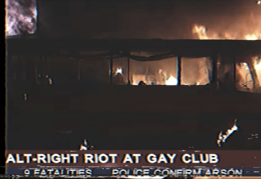 Chyron: Alt-right riot at gay club