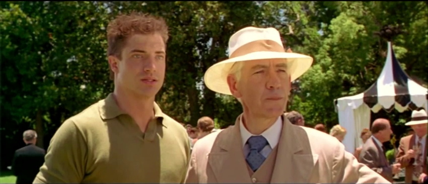 Brendan Fraser and Ian McKellen look into the distance