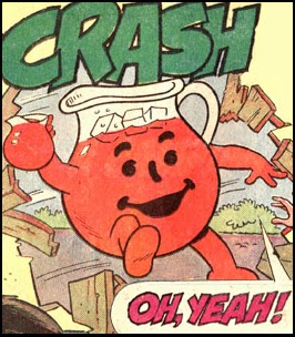 Kool‑Aid Man breaks through wall