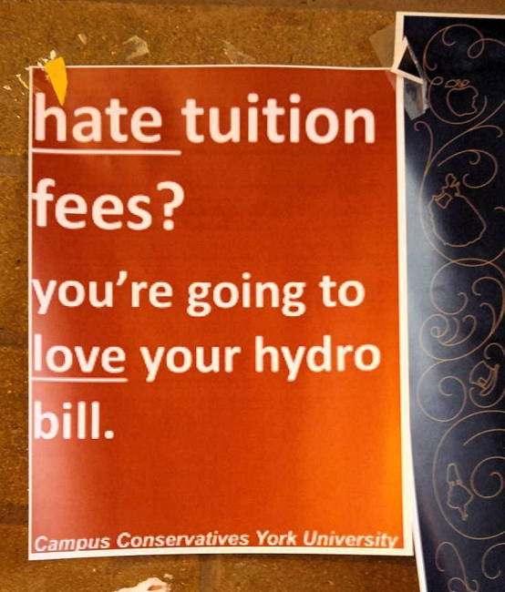 hate tuition fees? you're going to love your hyrdo bill